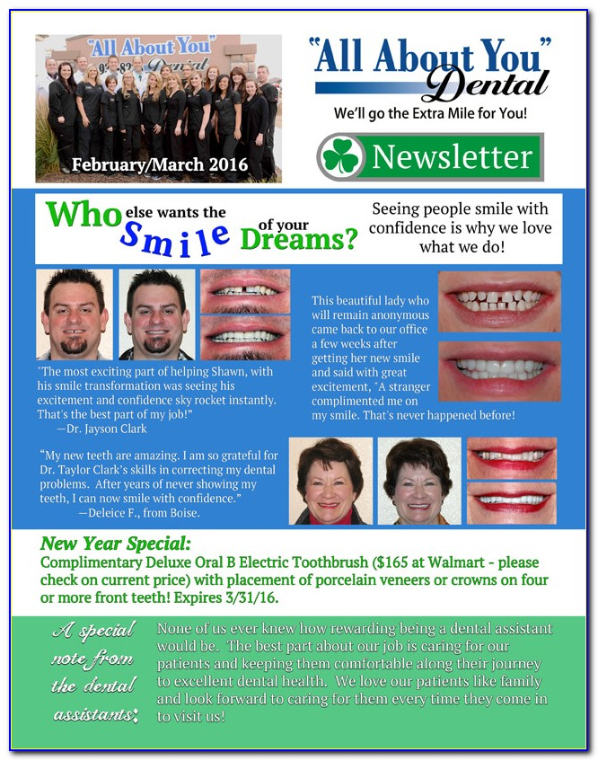 Free Dental Newsletter Template