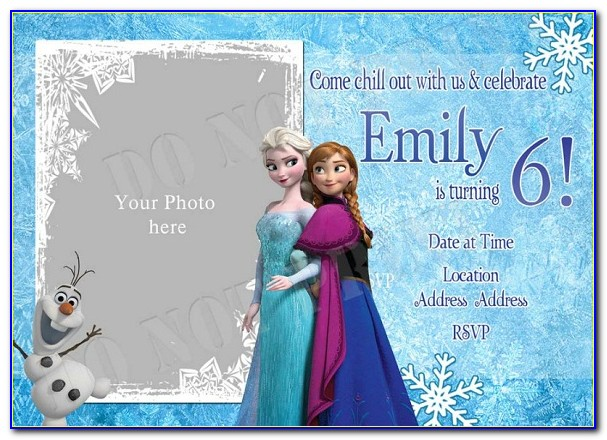 Free Disney Frozen Birthday Invitation Templates