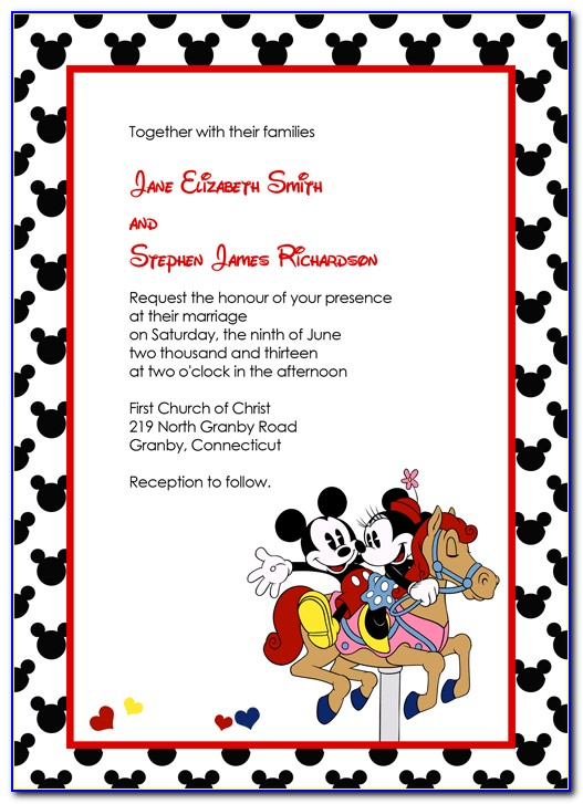 Free Disney World Invitation Templates