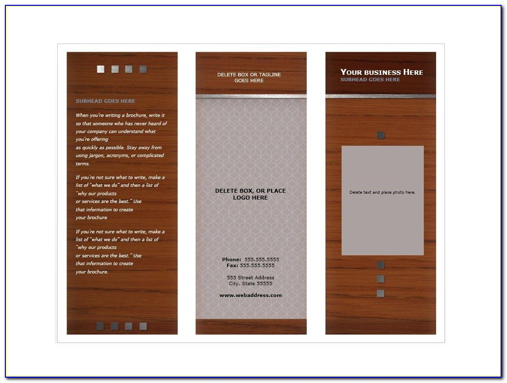 Free Downloadable Brochure Templates For Word