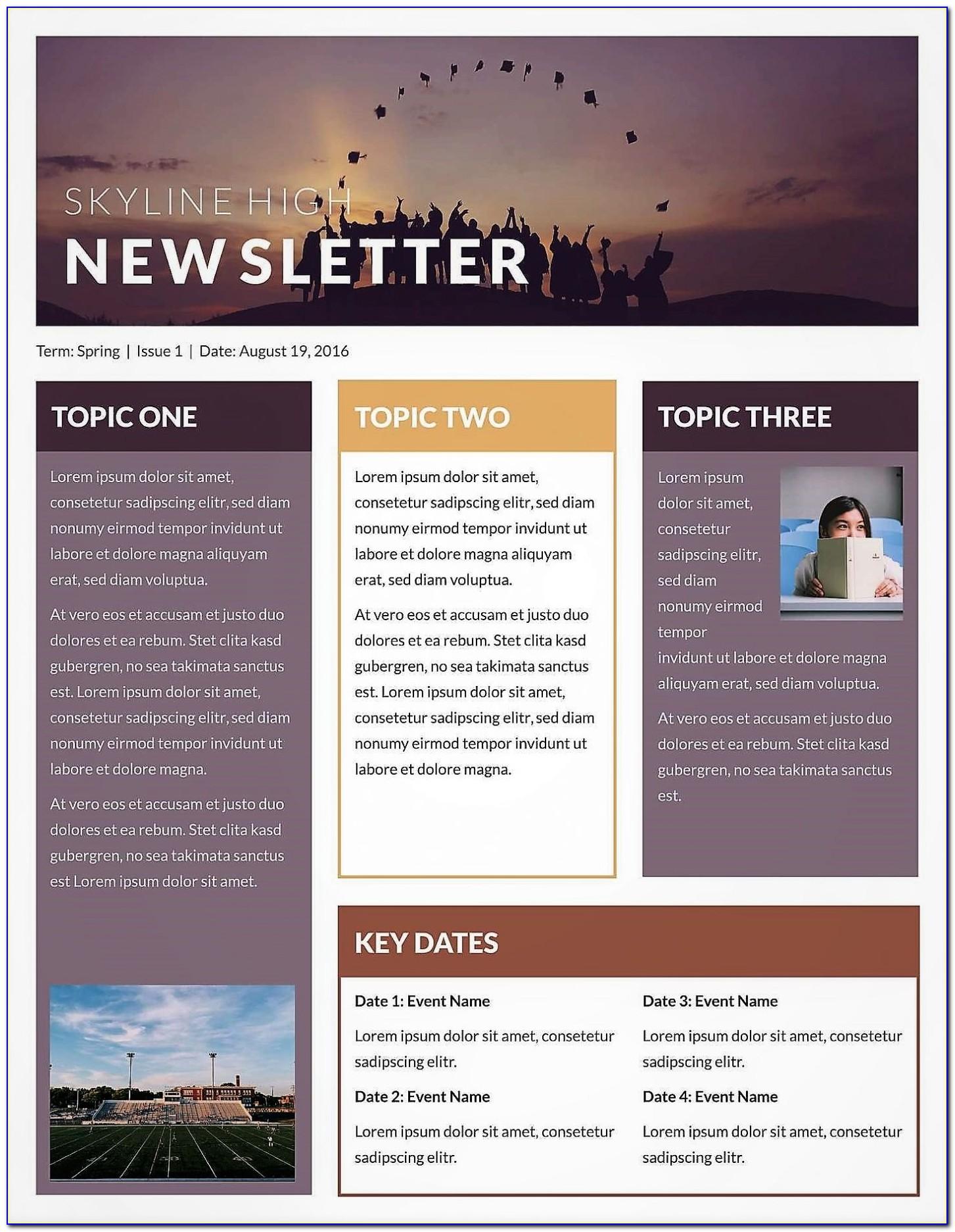 Free Editable Community Newsletter Templates