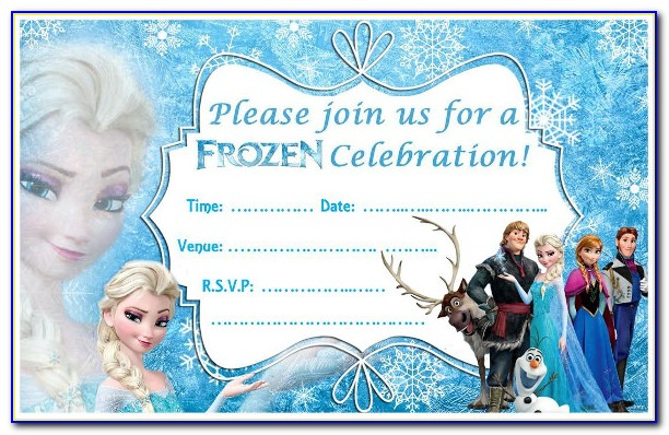 Free Editable Frozen Invitation Templates