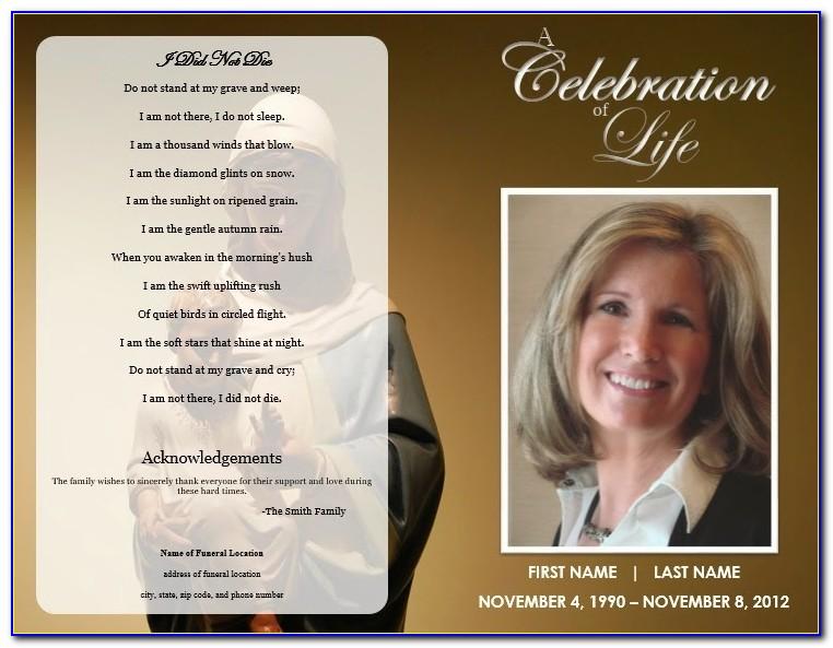 Free Editable Funeral Program Template Download