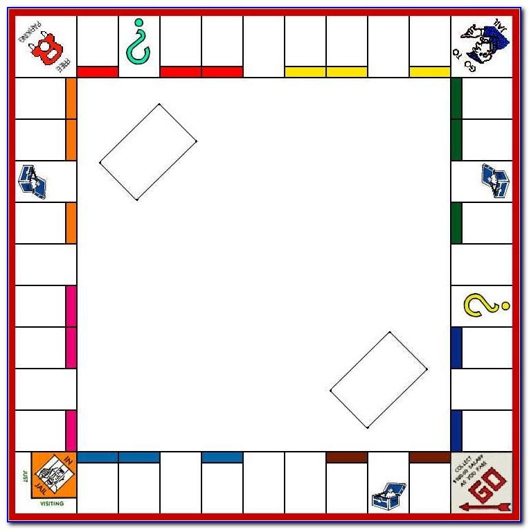 Free Editable Monopoly Board Template