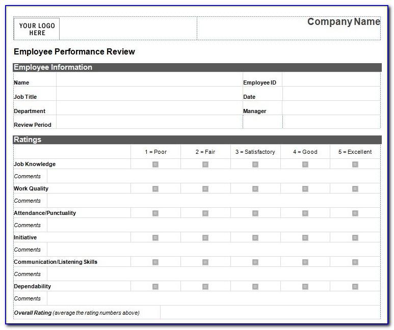 Free Employee Assessment Template