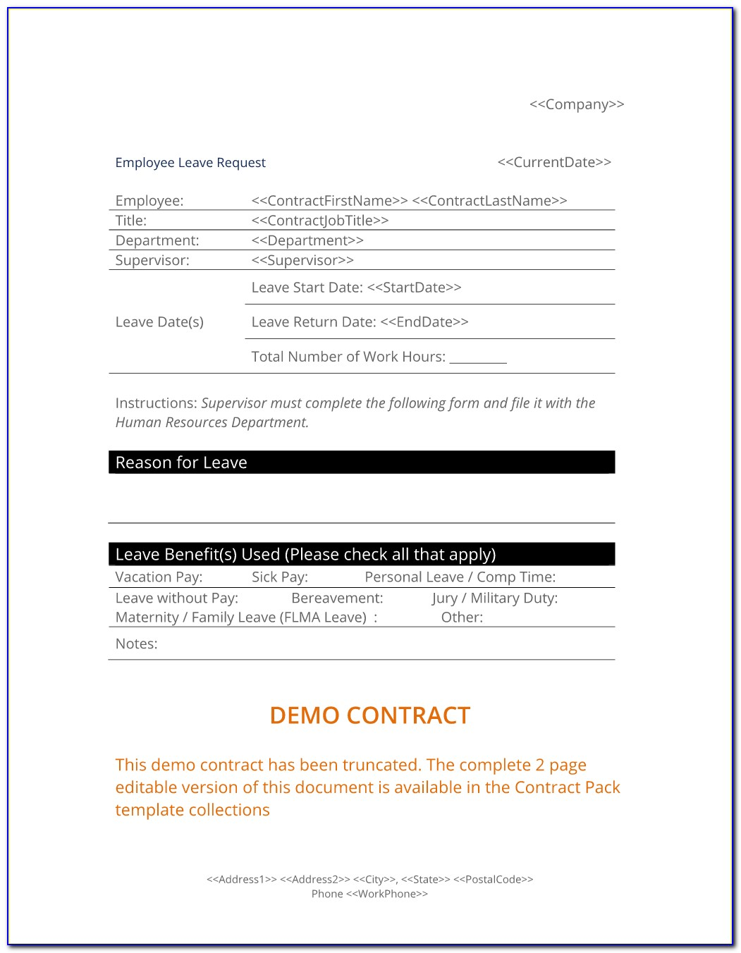 Free Employee Handbook Template Uk 2018