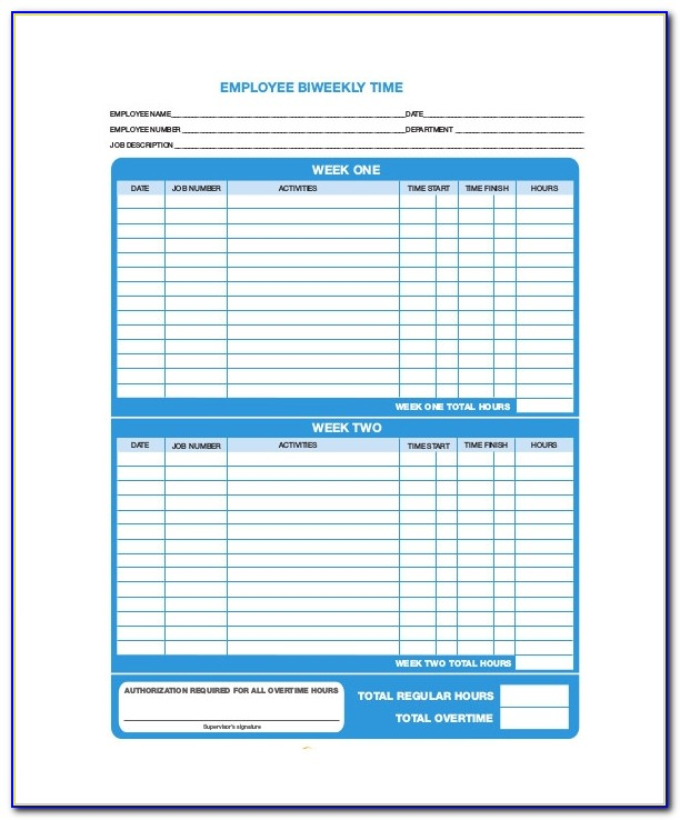 Free Employee Time Off Tracking Template