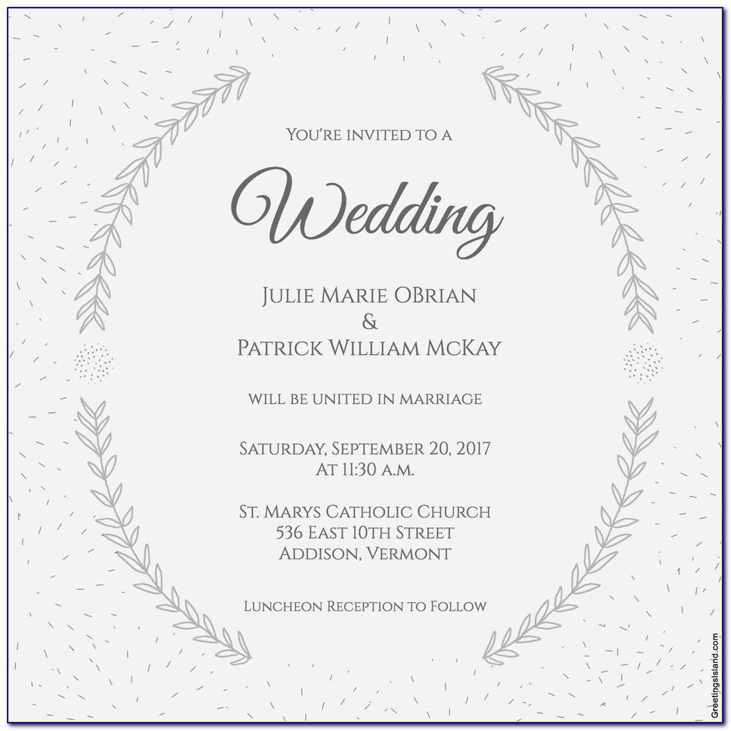 Free Evite Wedding Invitations