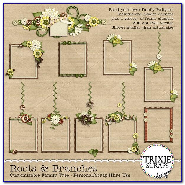 Free Family Tree Digital Scrapbook Template