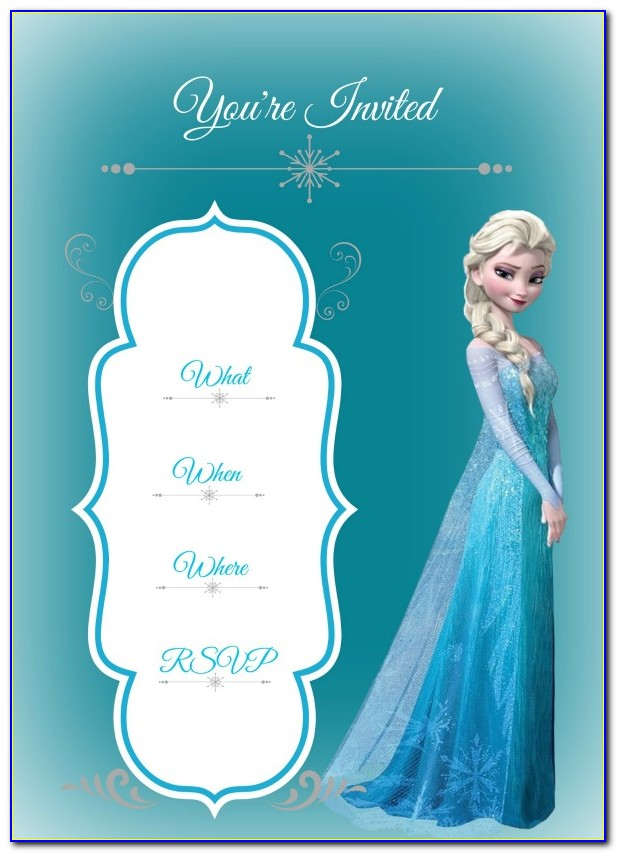 Free Frozen Birthday Invitation Templates