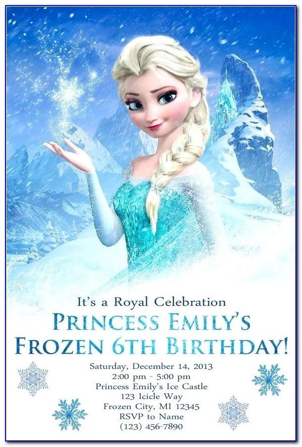 Free Frozen Invitation Card Template