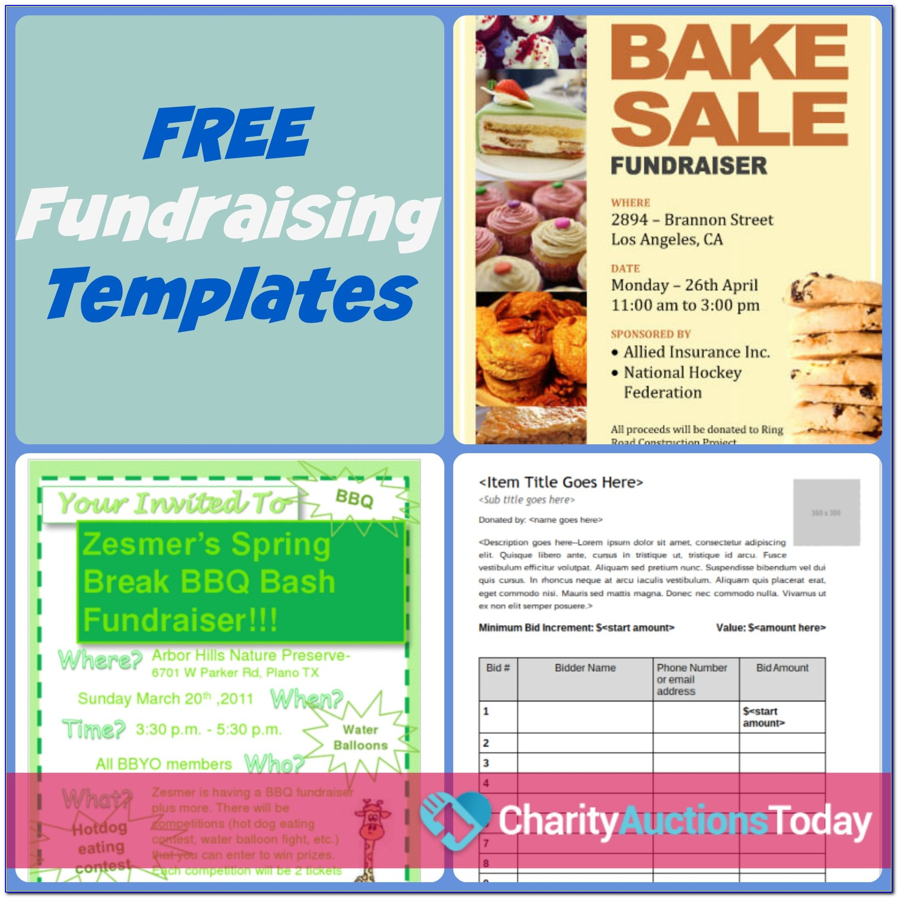 Free Fundraising Flyer Template