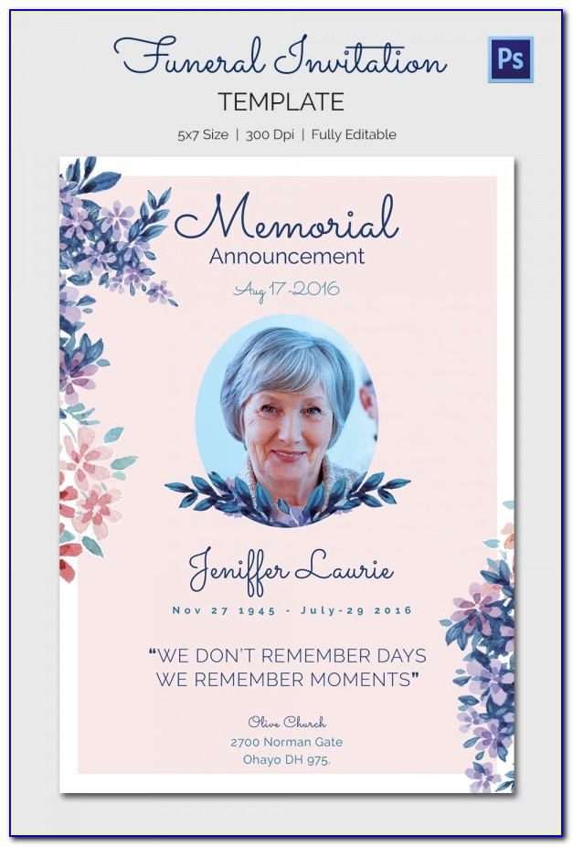 Free Funeral Card Templates Download
