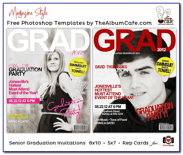 Free Graduation Party Invitation Templates For Photoshop
