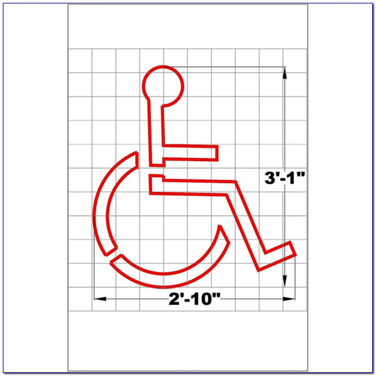 Free Handicap Parking Sign Template