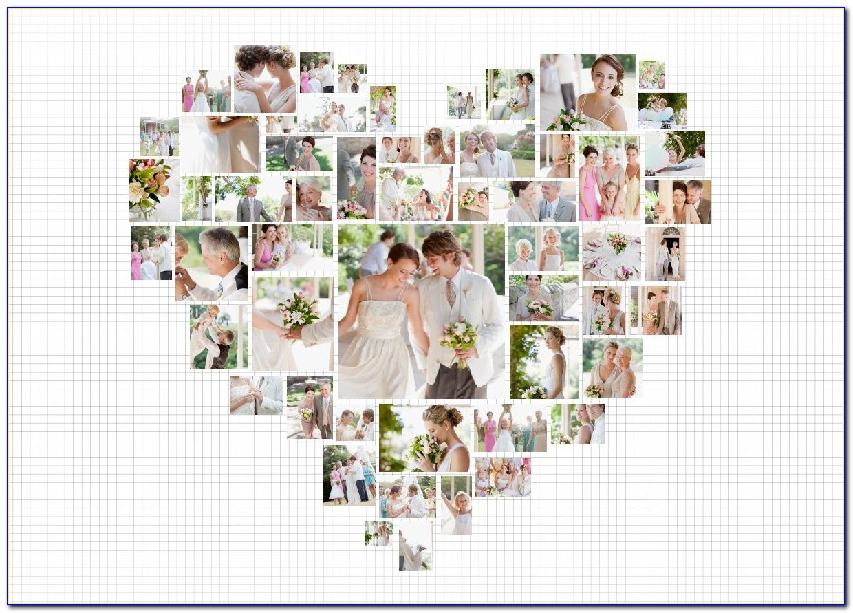 Free Heart Shaped Photo Collage Template