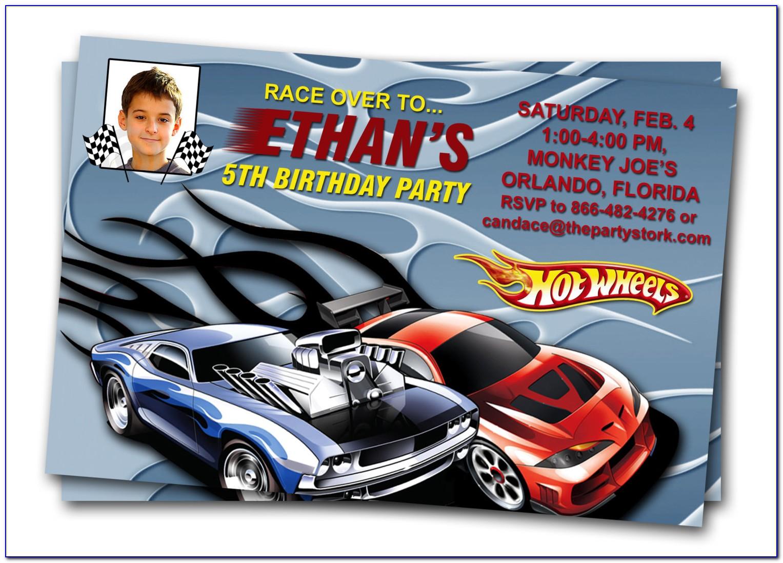 Free Hot Wheels Birthday Invitation Templates