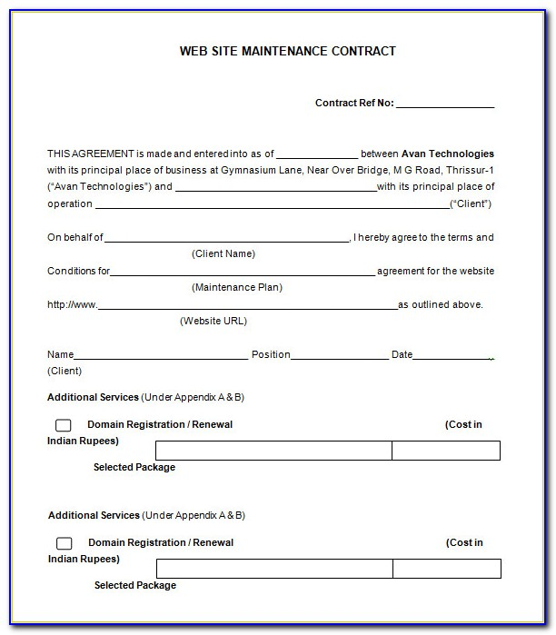 Free Hvac Preventive Maintenance Agreement Template