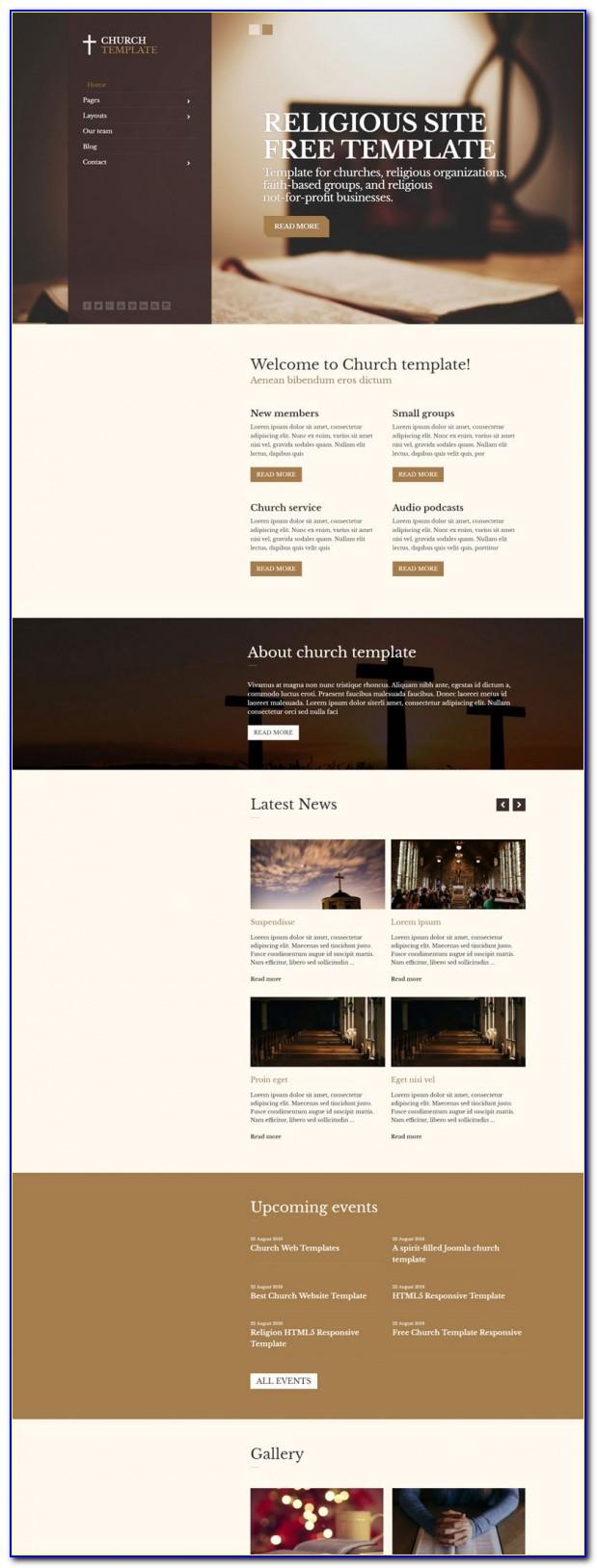 Free Joomla Church Website Templates