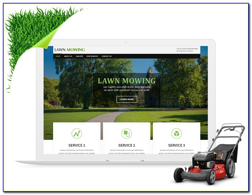 Free Lawn Care Website Templates