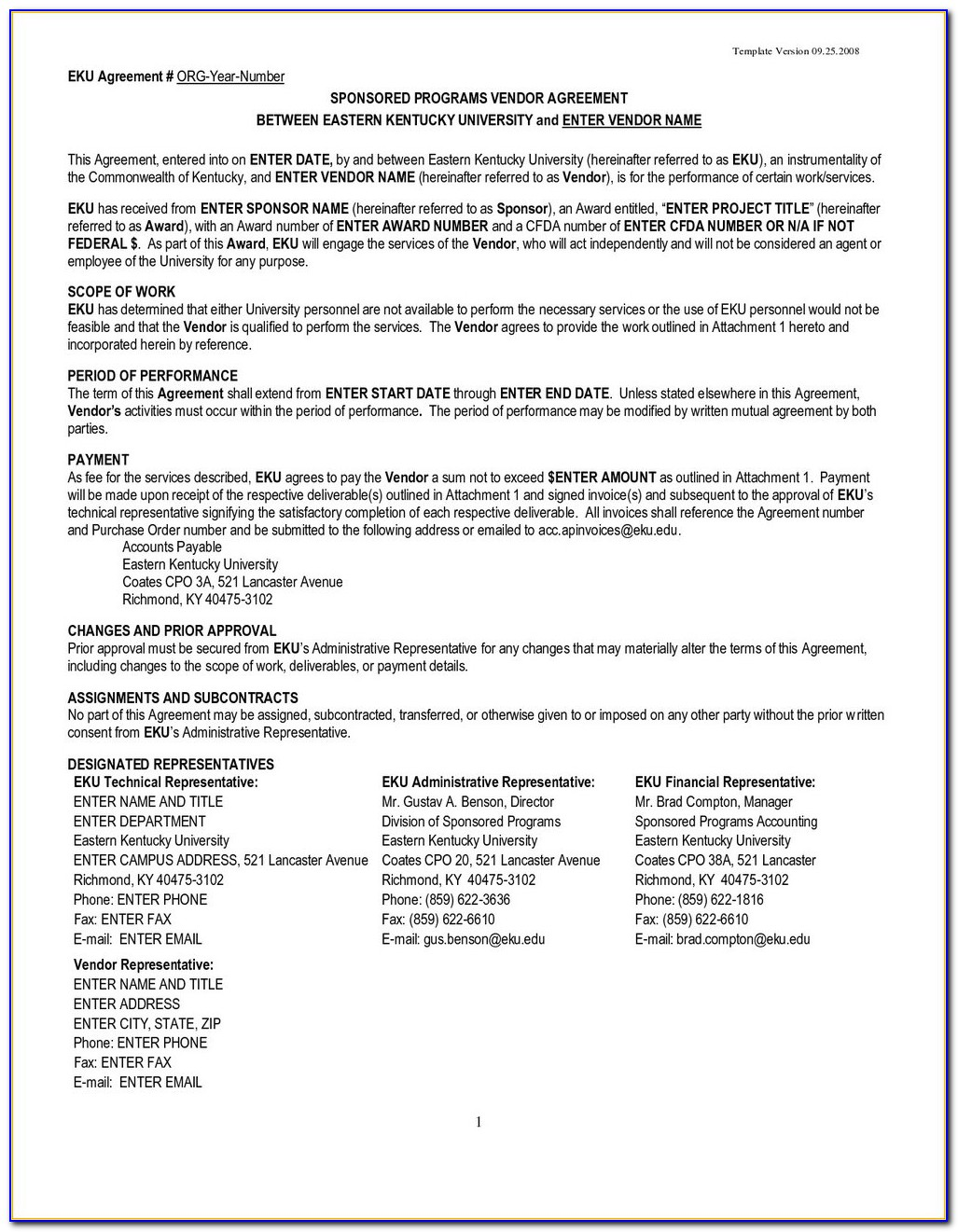 Free Long Term Supply Agreement Template