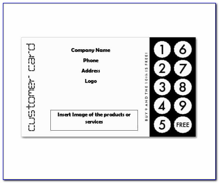 Free Loyalty Card Design Template