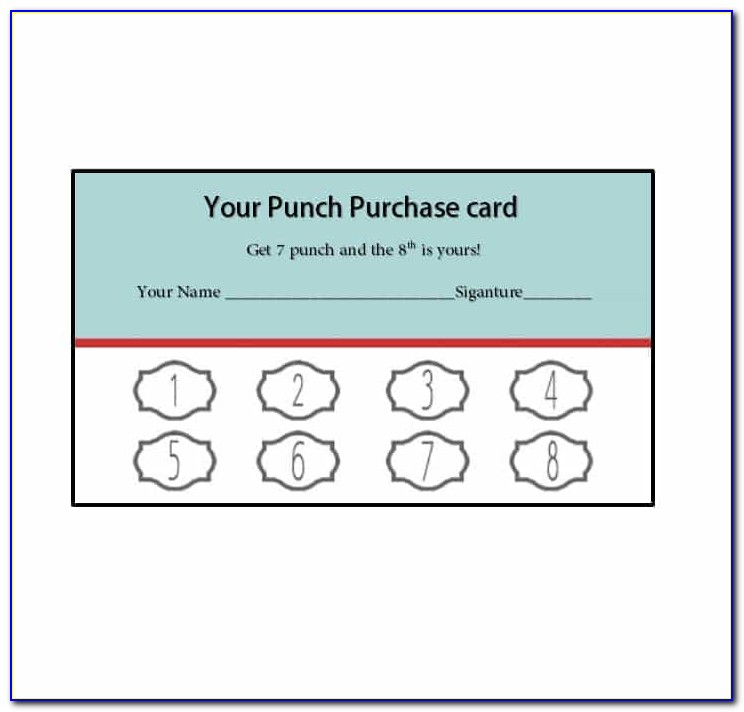 Free Loyalty Card Template Download