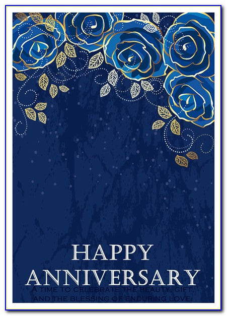 Free Marriage Anniversary Card Template