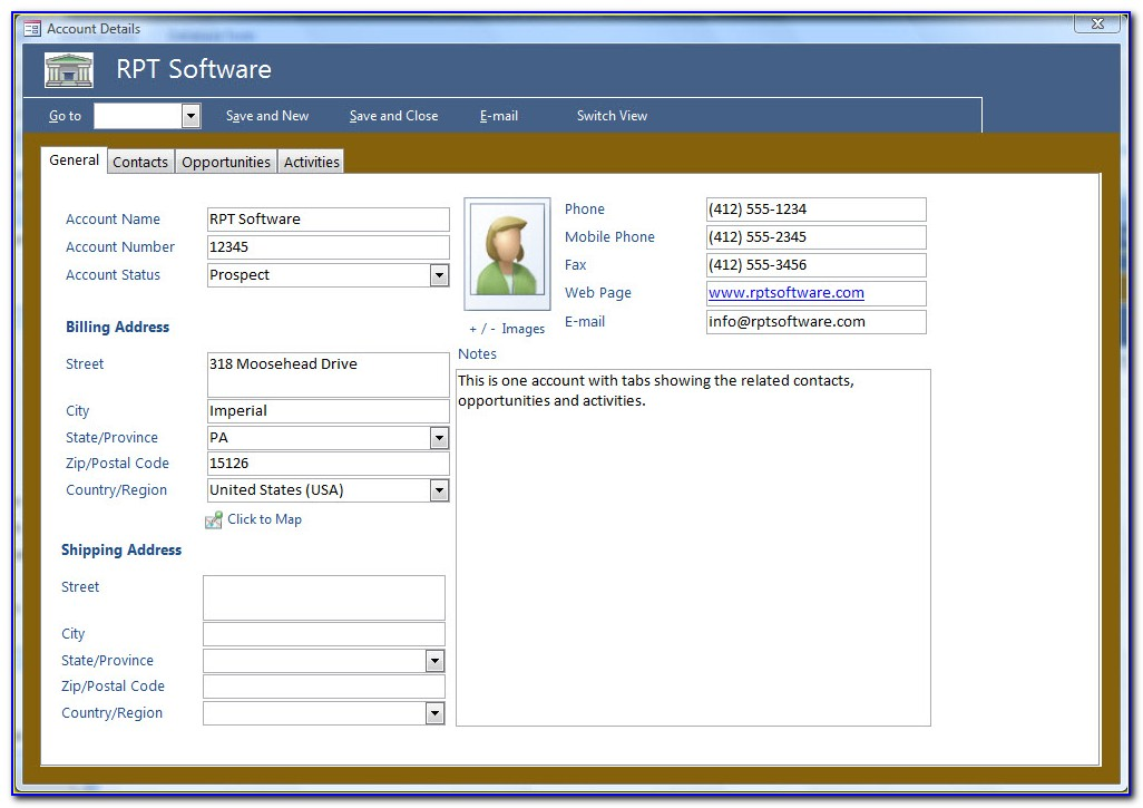 Free Ms Access Crm Database Template