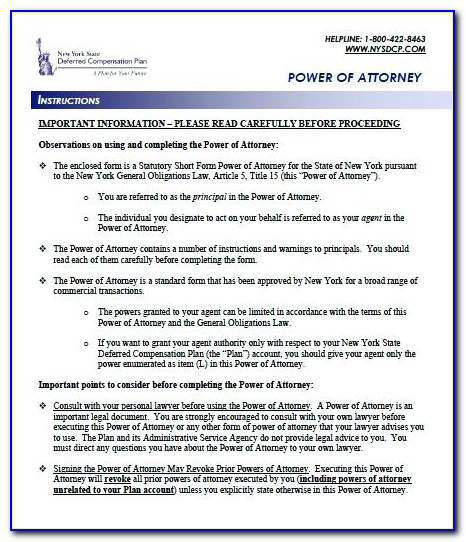 Free Ohio Durable Power Of Attorney Forms