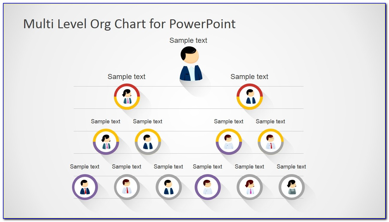 Free Org Chart Ppt Templates
