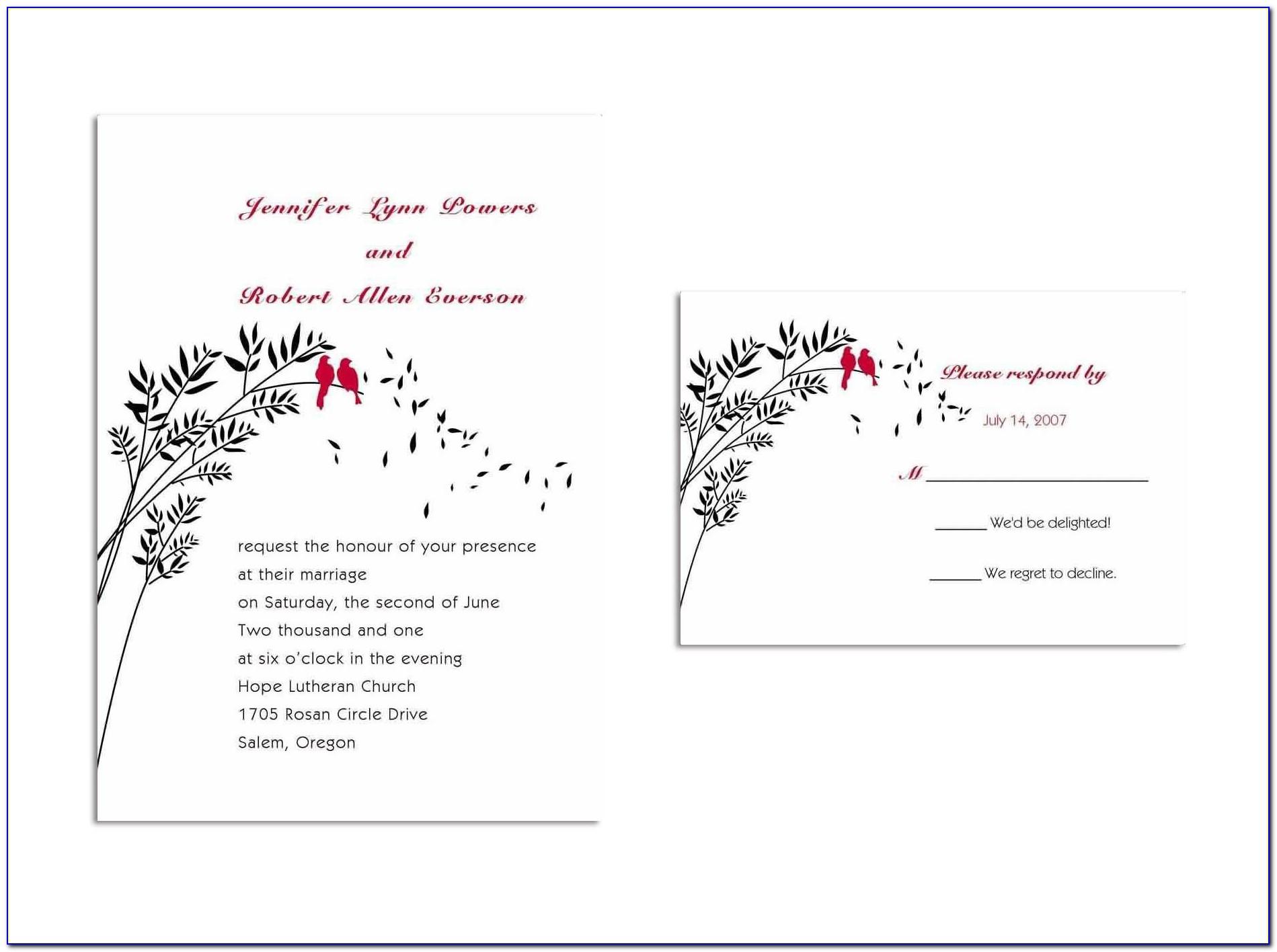 Free Postcard Wedding Invitation Templates