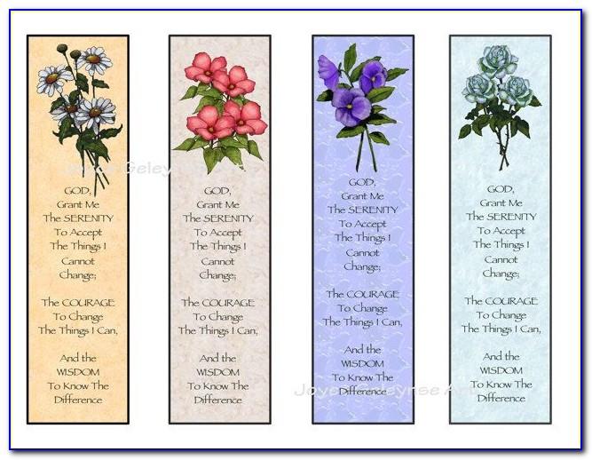 Free Printable Christian Bookmark Templates