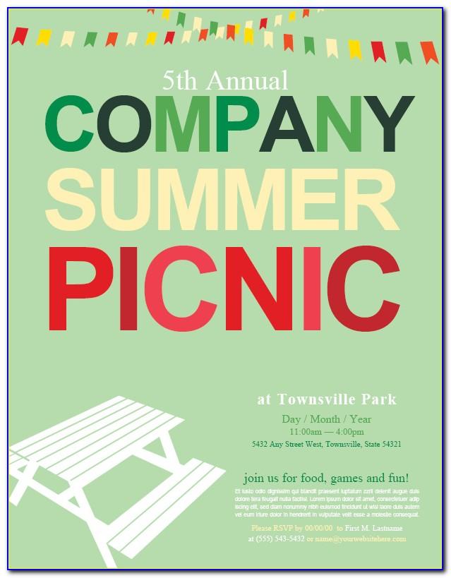 Free Printable Company Picnic Invitation Template