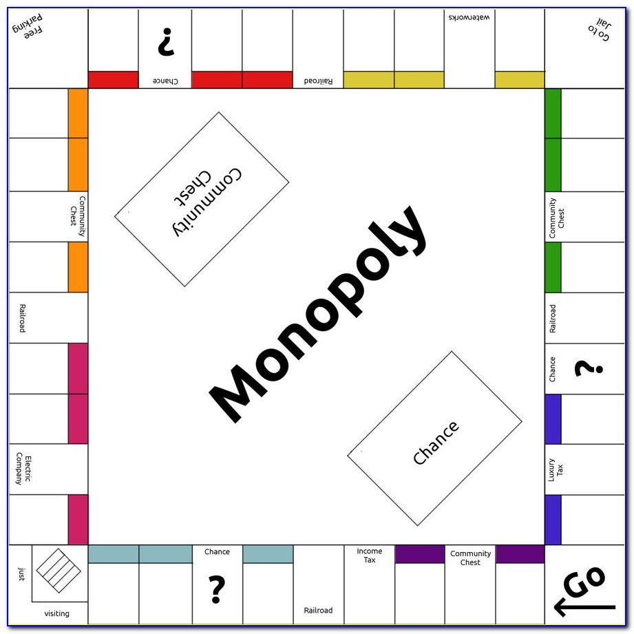Free Printable Monopoly Board Template