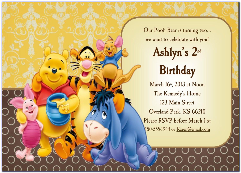 Free Printable Winnie The Pooh Baby Shower Invitation Templates