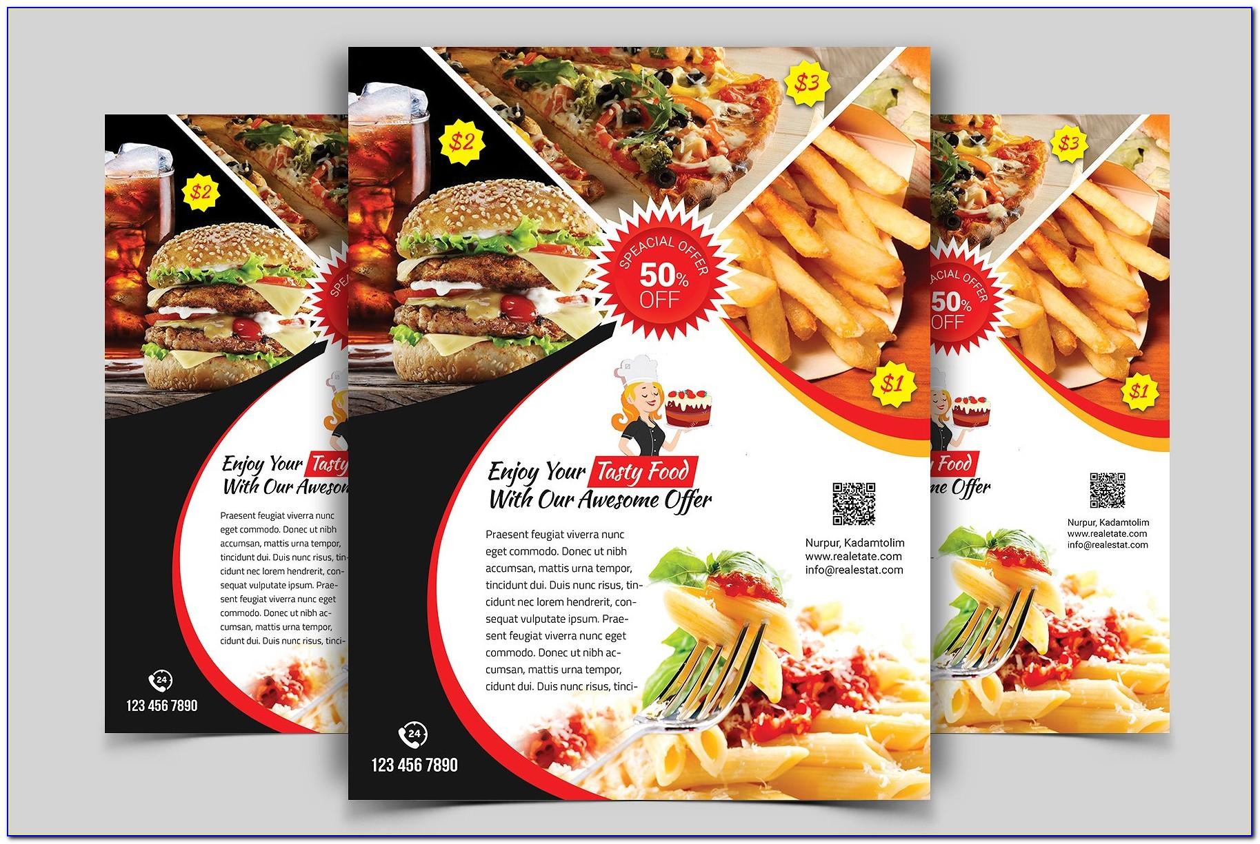 Free Psd Restaurant Flyer Templates