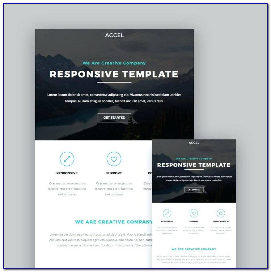 Free Responsive Email Newsletter Template