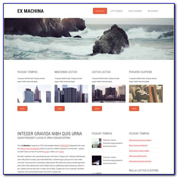Free Responsive Html5 Css3 Website Templates With Slider