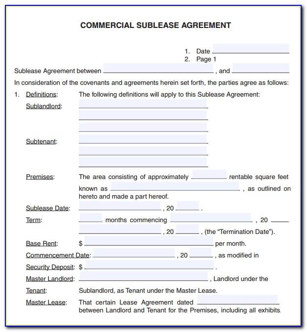 Free Sample Rental Agreement Template Word