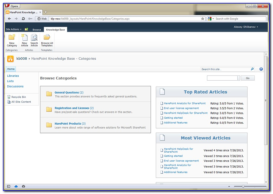Free Sharepoint 2013 Knowledge Base Template