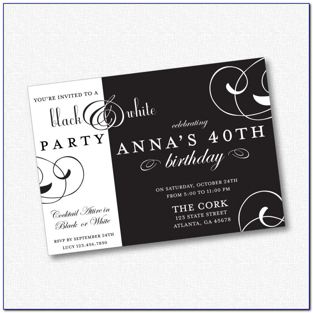 Free Snow White Party Invitation Template