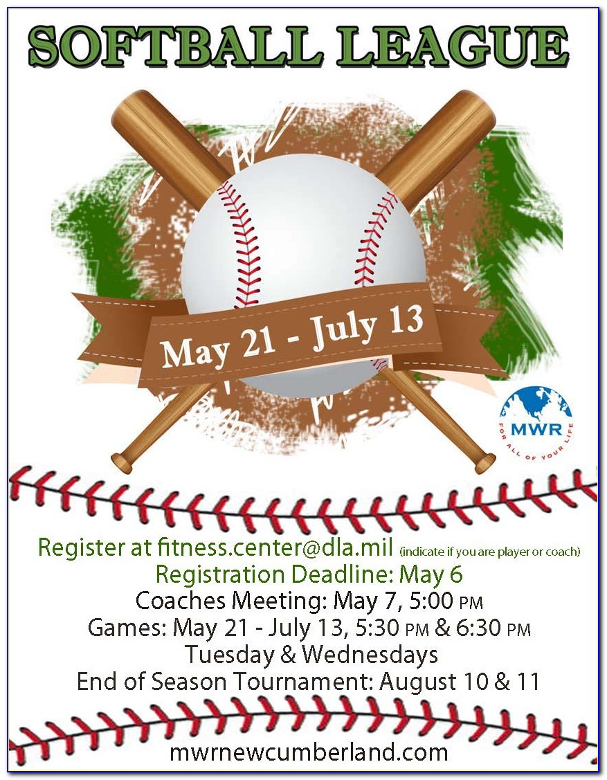 Free Softball Tournament Flyer Template
