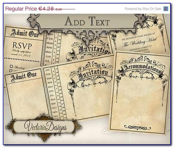 Free Steampunk Wedding Invitation Templates