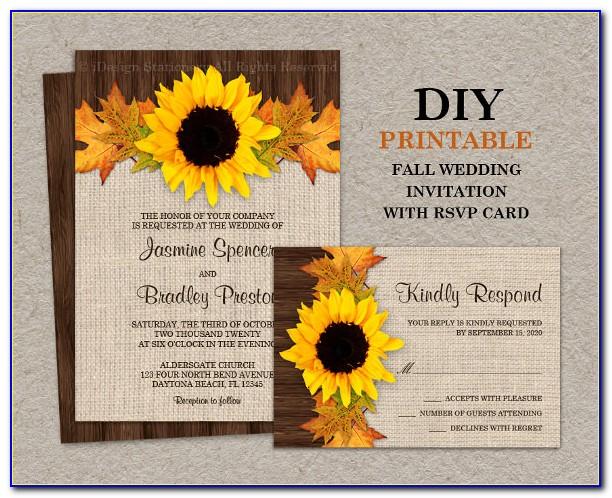 Free Sunflower Birthday Invitation Template