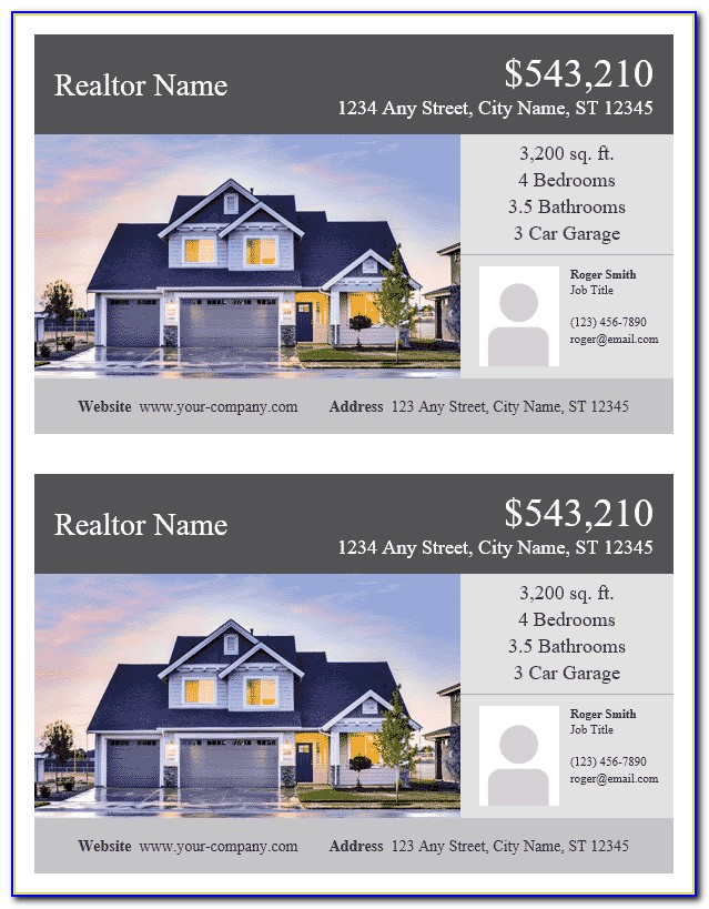 Free Templates For Real Estate Flyers