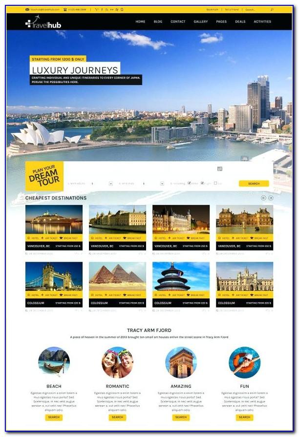 Free Tourism Website Templates Wordpress