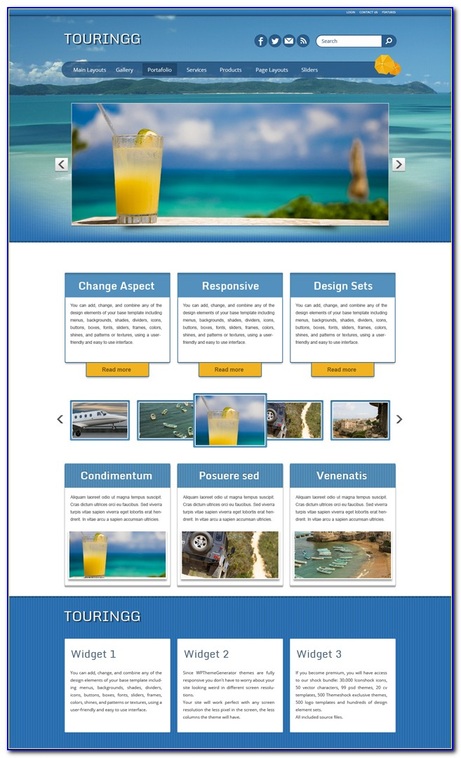 Free Travel And Tourism Website Templates