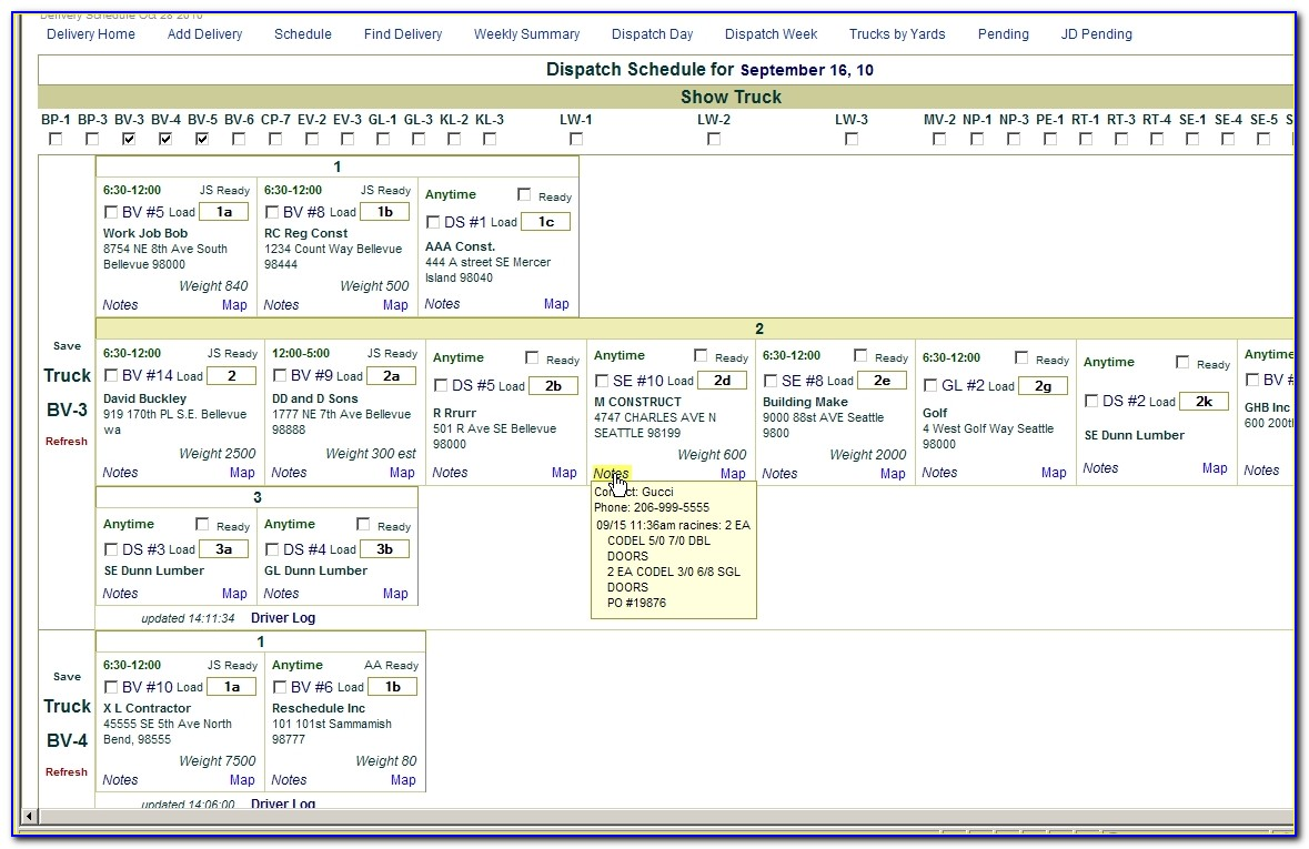 Free Truck Dispatch Excel Templates