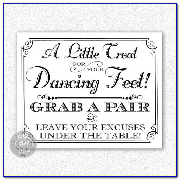 Free Wedding Flip Flop Sign Template